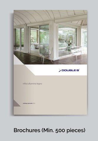 depliant fiere double b infissi in alluminio legno e pvc
