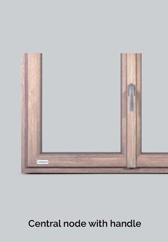 nodo centrale double b infissi in alluminio legno e pvc