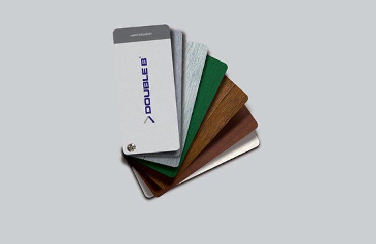 cartella colori double b infissi in alluminio