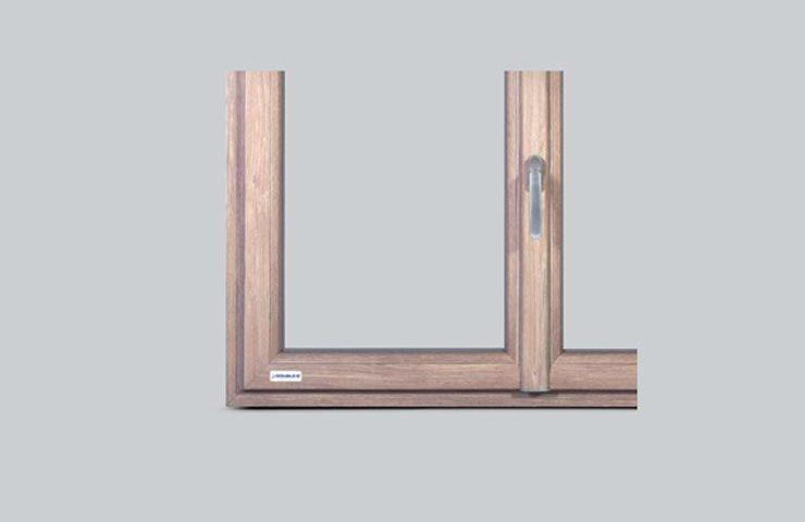 nodo centrale con maniglia double b infissi in alluminio legno e pvc