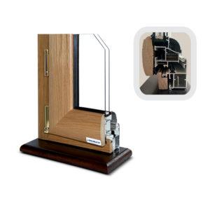 Infisso in alluminio legno sistema giunto aperto
